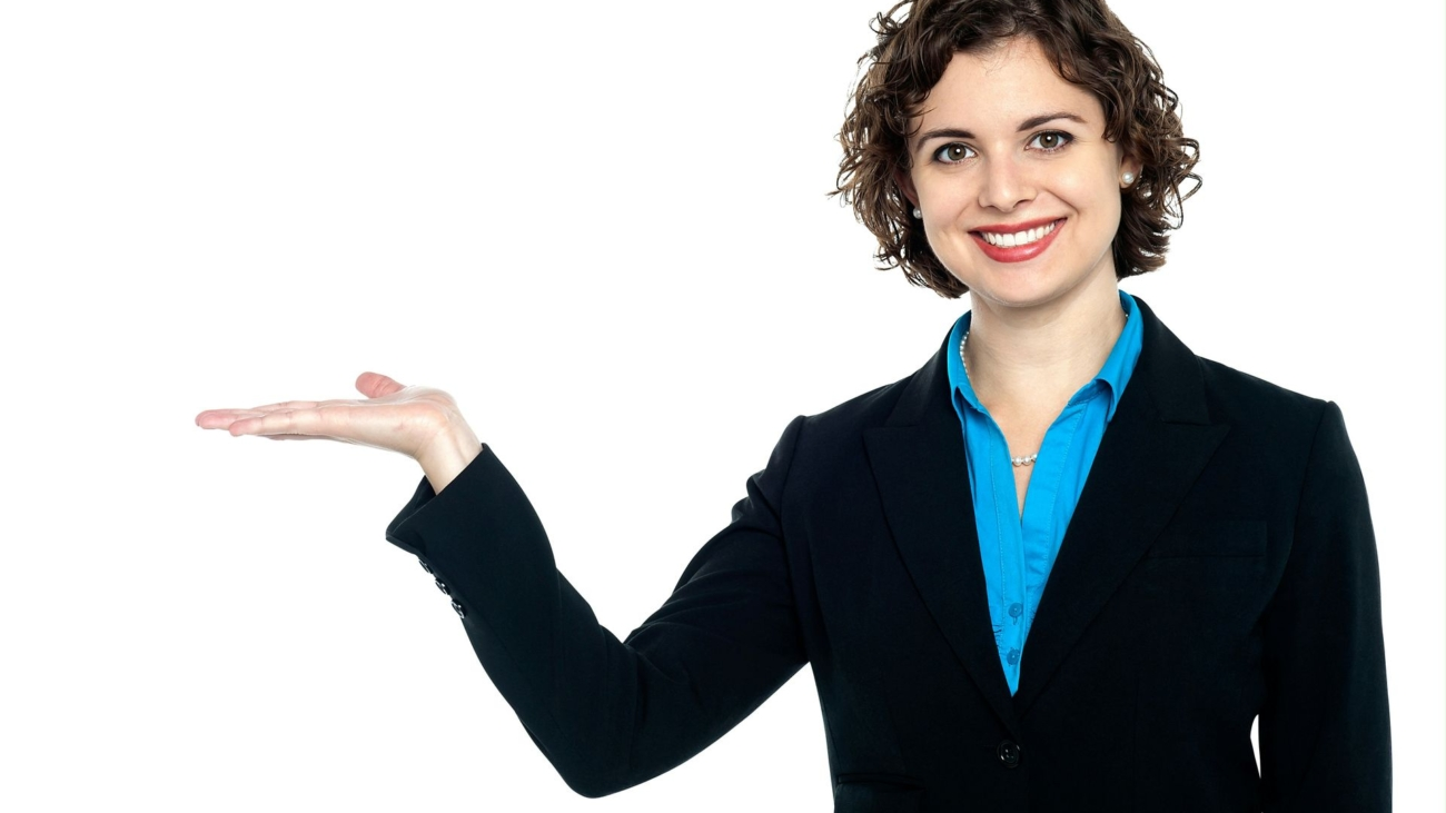 women-pointing-left-png-background-image-business-woman